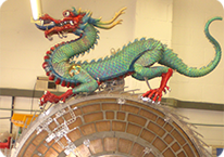 valuable Chinese Dragon Clock in wooden case
