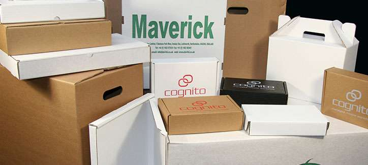 Our range of printed cardboard boxes and cartons