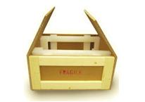A tri-walled cardboard box