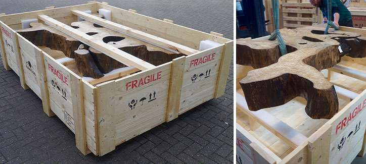 building a wooden case on-site