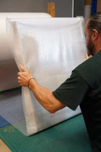 Soft wrapping with bubble wrap