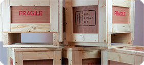 Plywood packing crates
