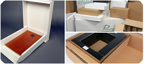 a selection from our range of quality custom cardboard boxes
