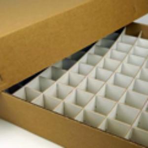 Custom cardboard box with inserts