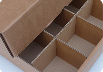 cardboard box in FEFCO style