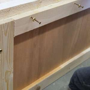 casemaker making a wooden packing case