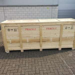 wooden timber packing crate