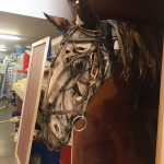 War Horse puppet in one of our wooden packing cases