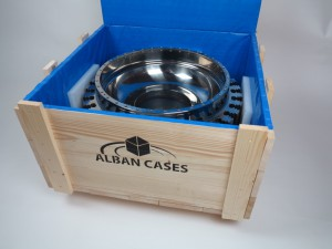timber case with blue liner