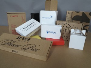 range of printed cardboard boxes