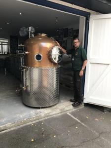 Packing 'Marjorie', a large copper still
