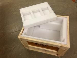 wooden crate with HD FOAM INSERTS