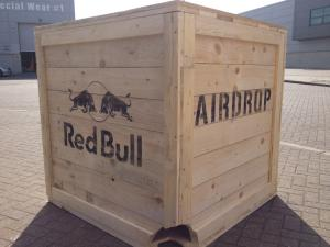Photo of Red Bull wooden packing case